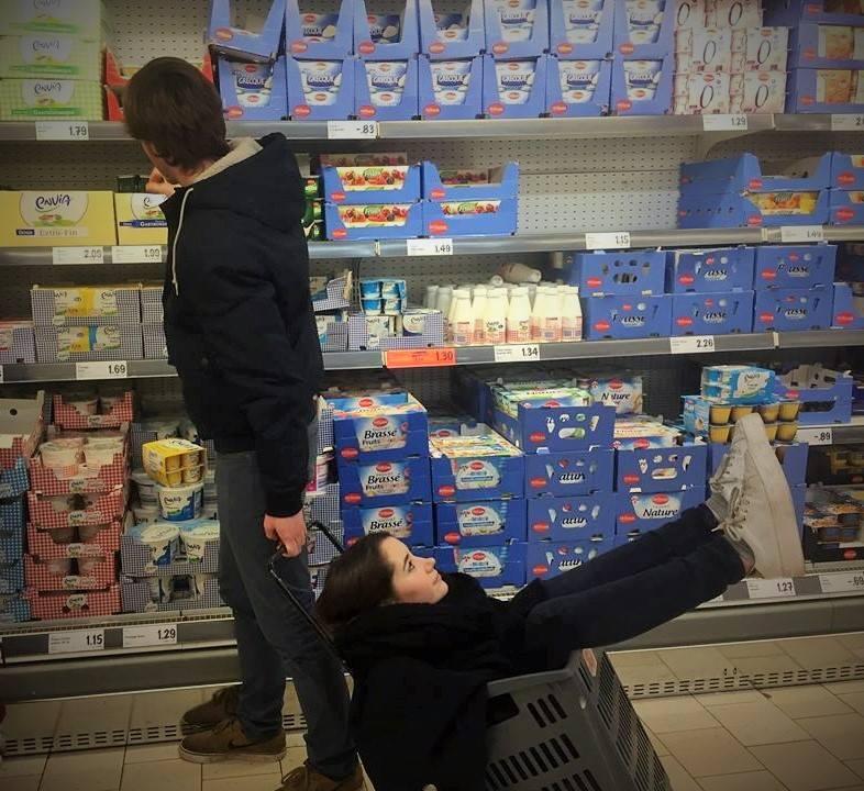 rencontre au supermarché)